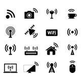 Radioapparat und Wifi-Ikone Lizenzfreie Stockfotos