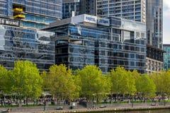 Radiodiffusione di Foxtel a Melbourne fotografia stock libera da diritti