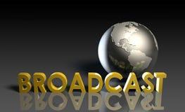 Radiodiffusione globale Immagine Stock Libera da Diritti
