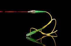 Radiofrequenza sopra il segnale di vetro del laser e di RFoG Immagine Stock