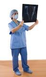 Radiografía de la pizca del doctor de la mujer Foto de archivo libre de regalías