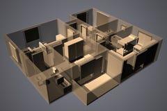 Radiografe o apartamento Imagens de Stock Royalty Free