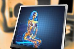 Radiografia bonito da mulher ilustração stock
