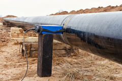 Radiografia della saldatura sul gasdotto Immagini Stock Libere da Diritti