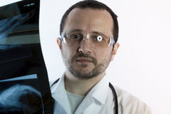Radiographer, Radiologist looking at an x-ray in hospital Stock Photography