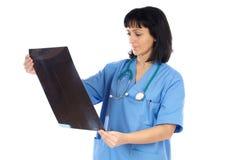 Radiographie de petit morceau de docteur de femme Photographie stock