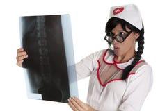 Radiographysjuksköterska Royaltyfria Bilder