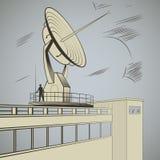 Radiolocator stock de ilustración