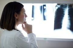 Radiolog przy pracą Fotografia Royalty Free