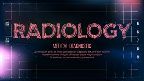Radiologia sztandaru wektor mapy tła oko medical optometrist Przejrzystego Roentgen radiologiczny tekst Z kościami Radiologii 3D  Ilustracja Wektor