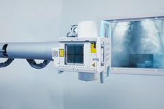 Radiologiczna maszyna w laboratorium badawczym Zdjęcie Royalty Free
