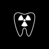 Radiologiczna ząb linii ikona Fotografia Stock
