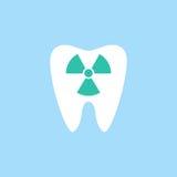 Radiologiczna zębu mieszkania ikona Zdjęcie Stock