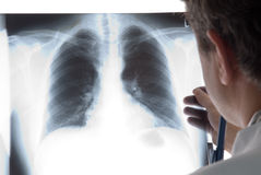 Radiologist. With a x-ray shoot Royalty Free Stock Images