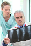 Radiologist and assistant Royalty Free Stock Photo