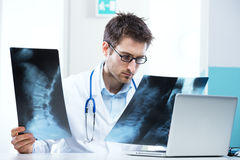 Radiologist exam Stock Photography