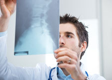 Radiologist exam Royalty Free Stock Photography