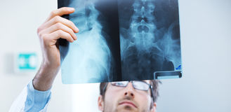 Radiologist exam Stock Photo