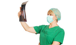 Radiologist female doctor Stock Image
