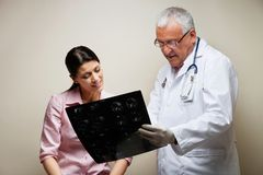 Radiologist And Patient Looking At X-ray Royalty Free Stock Photo