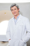 Radiologist Standing With Hands In Pockets Stock Photo