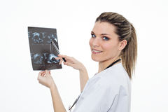 Radiologist woman in studio Royalty Free Stock Images