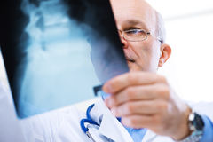 Radiologist at work Stock Images