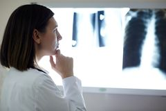 Radiologist at work Royalty Free Stock Photography