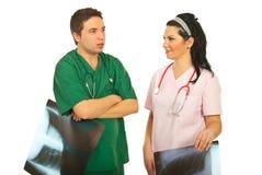 Radiologists having conversation Stock Photography