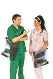 Radiologists team having conversation Royalty Free Stock Photo