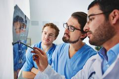 Radiologists at work Royalty Free Stock Photography