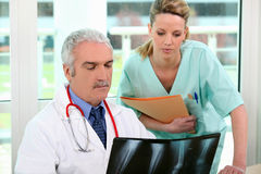 Radiology department in hospital Stock Image