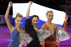 RADIONOVA (L), TUKTAMYSHEVA, POGORILAYA Fotografia Stock