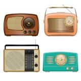 Radiopictogramreeks, realistische stijl stock illustratie