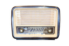 Radioricevitore anziano dell'isolato di secolo scorso Fotografie Stock