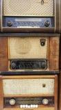 Radioricevitori d'annata, sintonizzatori Fotografia Stock