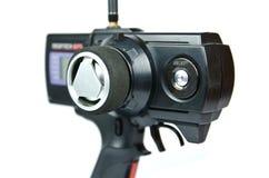 Radiosända den kontrollerade sändaren (RC) för modellbilar Arkivfoto