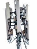 Radiosända mottagandeantennen som installeras på ett högt tak Abstrakt backg Arkivfoton