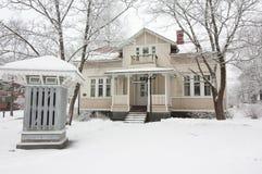 Radiosända museet på vintern i Kouvola, Finland 08 12 2016 Royaltyfri Foto