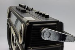 The radios were very large, containing two speakers and a cassette player. royalty free stock image