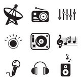 Radiosender-Ikonen Lizenzfreies Stockfoto