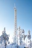 Radiosender im Winter Stockbilder