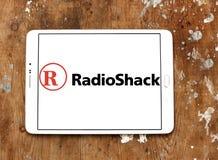 RadioShack logo. Logo of RadioShack on samsung tablet on wooden background. RadioShack is an American chain of wireless and electronics stores Stock Image