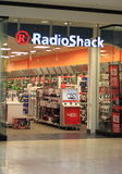 RadioShack Store. American franchise of electronics retail stores in the United States, as well as parts of Europe, South America and Africa Royalty Free Stock Photography