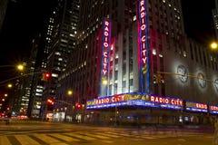 Radiostad i Manhattan arkivfoto