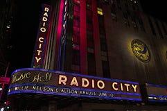 Radiostadsmusik Hall Royaltyfri Bild