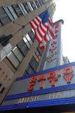 Radiostadsmusik Hall i Manhattan Arkivbilder