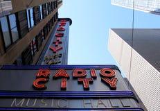Radiostadsmusik Hall, Manhattan, New York City. Royaltyfria Foton