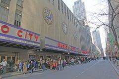 Radiostadsmusik Hall, New York City Arkivbild