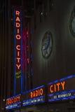 Radiostadsmusik Hall, NY Arkivfoton